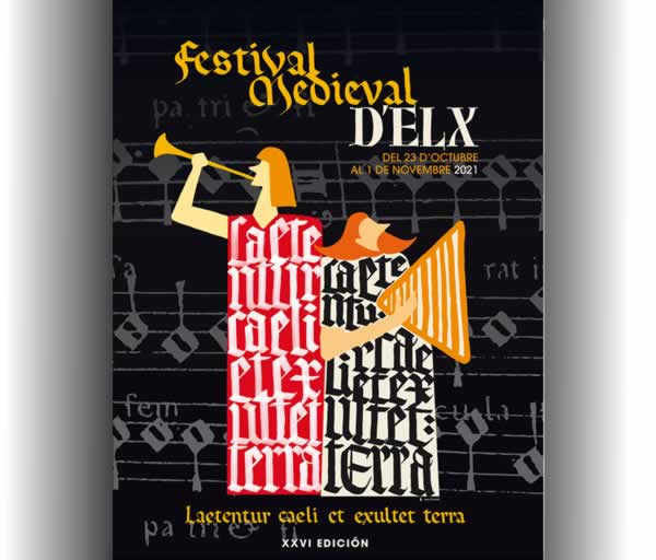 Cartel del Festival Medieval de Elche 2021 - Edicion XXVI