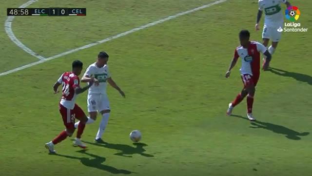 Gol de Benedetto al Celta de Vigo