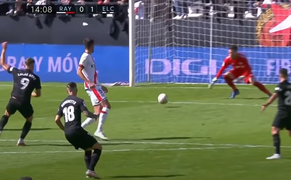 Rayo Vallecano - Elche CF , gol de Lucas Boye